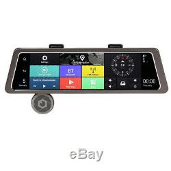 10Touch 4G IPS Car GPS Navigation Dual Lens Rearview Video Recorder Andorid 5.1