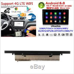 10.1 Touch Screen Ultra thin Android 6.0 Car GPS Wifi 4G LTE TPMS BT MP5 Player