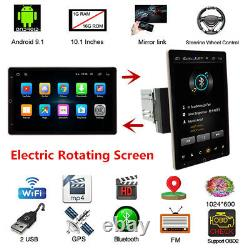 10.1 in 2Din Android 9.0 Car Radio Stereo Bluetooth Player GPS Sat Nav FM WIFI
