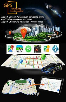 10.1in 1DIN Android9.1 Car Dash Radio Stereo Player GPS Nav FM WiFi BT WithCamera