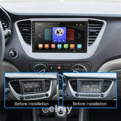 10.1in 1DIN Android 8.1 Car Stereo Radio Sat Nav GPS Bluetooth Wifi 2+32G Camera