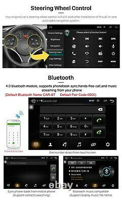 10.1in 1Din Bluetooth WiFi Car Stereo Radio FM MP5 Player Android9.1 GPS Sat Nav