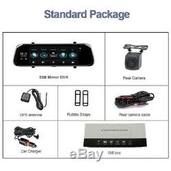 10 4G Android Streaming Mirror Recorder Car DVR GPS Dual Lens Rearview Dash Cam