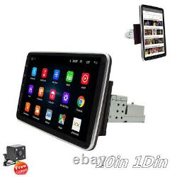10in 1Din Car FM Stereo Radio MP5 Player Android9.1 GPS Sat Nav BT WIFI+4LED Cam
