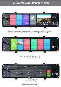 12 Android 8.1 4G Wifi GPS Car DVR Camera Dash Cam Rear View Mirror Recorde