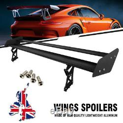 135cm/53.15 Aluminum Car GT Racing Wing Spoiler Bracket Mounted Stand Universal