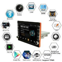 1Din 9in Car MP5 Player Android 8.1 GPS NAV SAT Stereo FM Radio BT WIFI +Cams