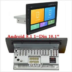 1Din Android 8.1 10.1 Touch Quad-Core Car Stereo Radio GPS Wifi BT Mirror Link