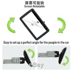 1Din Rotatable Android 8.1 9 Touch Screen Car Dash Stereo Radio GPS Wifi BT MLK