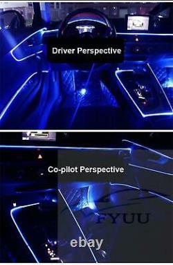 1In 10 NO Threading Ambient Light Car Atmosphere Light Lamp APP Control 64Colors