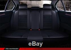 1 Set 5 Seats Car Sit Covers Protector Black+Red Color High Quality with Pillows