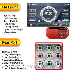 2DIN In-dash 6.2 Car Stereo Radio DVD LCD Player BT Mirror Link for GPS + Camera