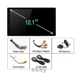 2Din 10.1in Android 9.1 4-Core Car Stereo Radio MP5 Player GPS Sat Navi WIFI FM