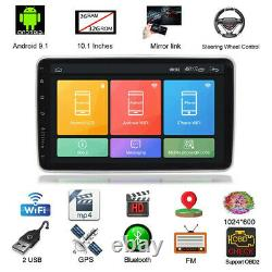 2Din 10.1in Android 9.1 Car Wifi GPS FM Stereo Radio MP5 Player With Rear Camera