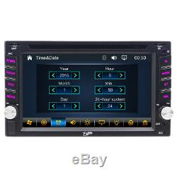 2Din 6.2 Car Stereo Bluetooth Radio DVD CD Player GPS Navigation Touch Screen
