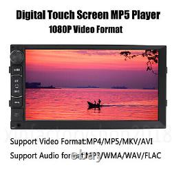 2Din 7 Android8.1 Car For GPS Nav WiFi Radio Stereo Multimedia Player + Camera