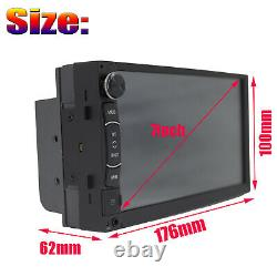 2Din Car Stereo Touch Screen MP5 Radio Mirror Link For GPS With Parking Camera