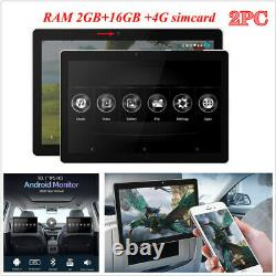 2Pc 10.1 Car Headrest Monitor 2GB+16GB HD video IPS Touch Screen MP5 Player 4G