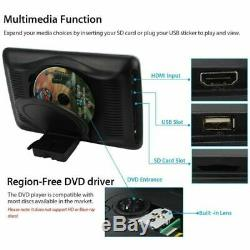 2X 10.1 inch Car Headrest Monitor DVD Player USB/SD/HDMI Port LCD Touch Screen &