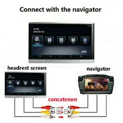 2X Quad-Core Car Headrest Rear Seat Monitor Wifi BT 3G/4G HDMI Android 6.0 10.1