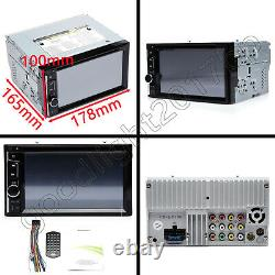 2 DIN 6.2'' Car Head Unit DVD Player Stereo + Rearview Camera Mirrorlink For GPS