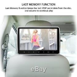 2pcs 10.1 inch Car Headrest Monitor DVD Player USB/SD/HDMI Port LCD Touch Screen