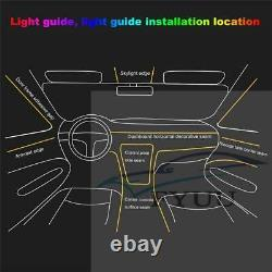 3W1In9 64Colors NO Threading Ambient Light Car Atmosphere Light Lamp APP Control