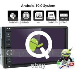 4GB 64GB 7 Android 10.0 Double DIN Car Stereo Sat Nav GPS DAB OBD2 WiFi