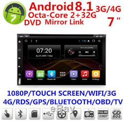 4G Wifi Android 8.1 7 1080P Car GPS BT DAB DTV Mirror Link OBD DVD 2G+32G 2Din