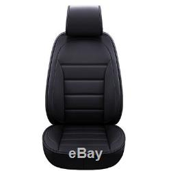 5D Luxury 5Seat Car Interior Full Surrounded Luxury PU Leather Seat Covers Black