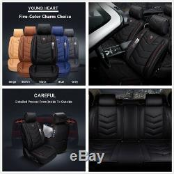 5-Seat Car Interior 6D Microfiber Leather Seat Covers Vehicle Styling 4-Seasons
