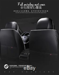 6D Microfiber Leather Breathable Car Full Seat Covers Full Surround Seat Cushion