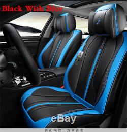 6D Surround BlackBlue PU Leather Car Seat Cushion Seat Covers Protector Cushion
