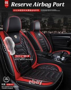 6D Surround Car Seat Covers Luxury Leather Seat Protectors Front Rear Full Set