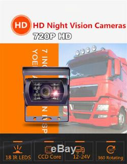 720P 4CH Car DVR SD 4G Wireless GPS Realtime Recorder with7'' Monitor & 4 Cameras