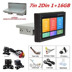 7In 1DIN Android9.1 Car MP5 Player GPS SAT NAV Stereo Radio WIFI Mirror Link+Cam