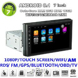 7 Single Din Android 8.1 1080P Octa-Core 2GB+16GB Car Stereo Radio GPS Wifi