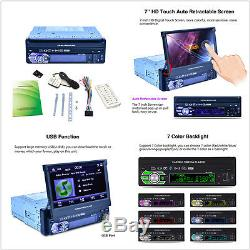 7'' Touch Screen 1 DIN 8GB Car MP3 MP5 Player Bluetooth AUX/USB + GPS Navigation