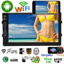 7 inch Android 8.1 Double Din Auto GPS Navi Car Radio Stereo WiFi For BMW X3 X5