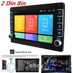 8in 2Din Car Stereo Radio MP5 Player Android 8.1 Bluetooth GPS SAT Nav WIFI FM