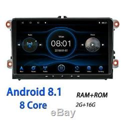 92DIN Android 8.1Multimedia player 8-core RAM 2GB ROM 16GB Car Stereo Radio RDS