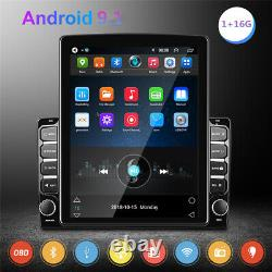 9.7in Android 9.1 2DIN Quad-Core GPS Bluetooth Car Stereo FM Wifi Player Camera