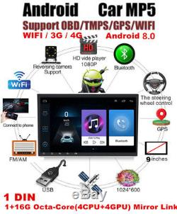 9 Singal Din 8 Core WIFI 3G/4G Car Stereo Radio MP5 Player TPMS Mirror Link
