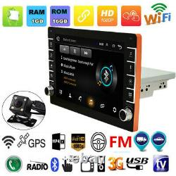 9in 1DIN Android 8.1 GPS Bluetooth Car Stereo MP5 Player Wifi Hotspot +Camera