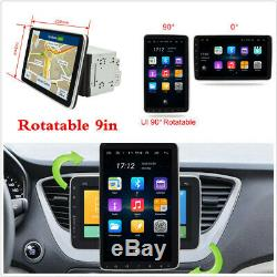 9in Android8.1 Car Radio Stereo Rotating Screen Double 2Din BT MP5 GPS NAVI WIFI