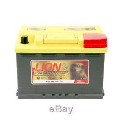 AX570760 AGM 096 Car Battery 3 Years Warranty 70Ah 760cca 12V Electrical By Lion