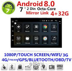 Android 8.0 7 1080P 2DIN Touch Screen Octa-Core 4G RAM+32G ROM Car Stereo Radio