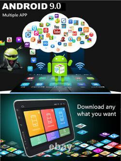 Android 9.0 1Din Car Stereo Radio GPS Navigation Player WIFI 10.1in Touch Screen