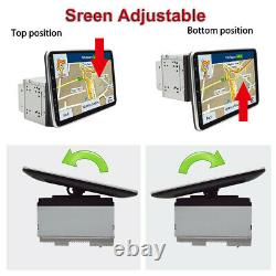Android 9.1 10.1in Double 2DIN Car Stereo Radio GPS NAVI WiFi FM MP5 Player+Cams