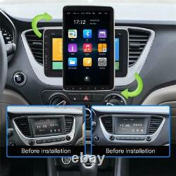Android 9.1 10in 1Din Car FM Stereo Radio Bluetooth WIFI MP5 Player GPS Sat Nav